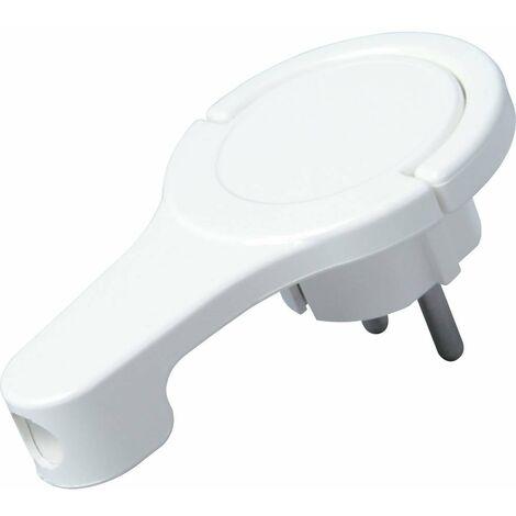 Fiche plate à contact de protection Kopp 172002037 230 V blanc IP20