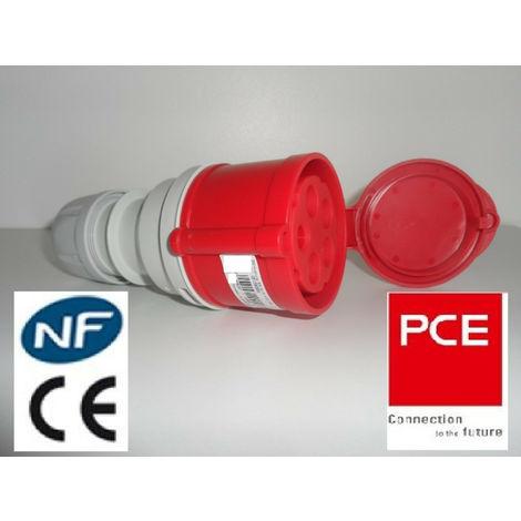 Fiche Prise femelle CEE 5x32A - Triphasé 5 Pôles IP 44 prolongateur marque PCE