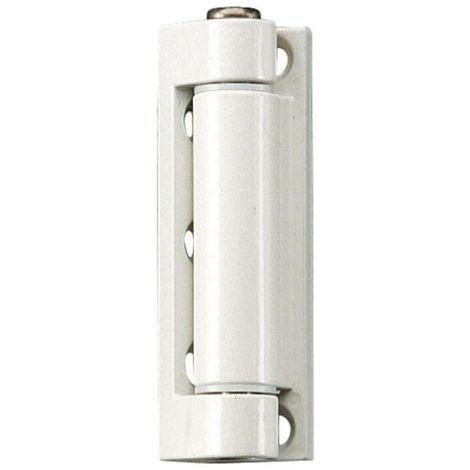 Fiches menuiserie PVC - nœud diamètre 14 mm hauteur 75 mm - biais de 5° sur platine d'ouvrant type K 3281 C WF