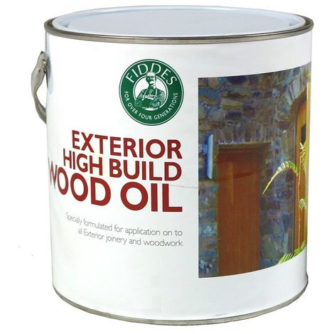 Fiddes - Exterior High Build Wood Oil - Contains UV Filters - 1L and 2.5L