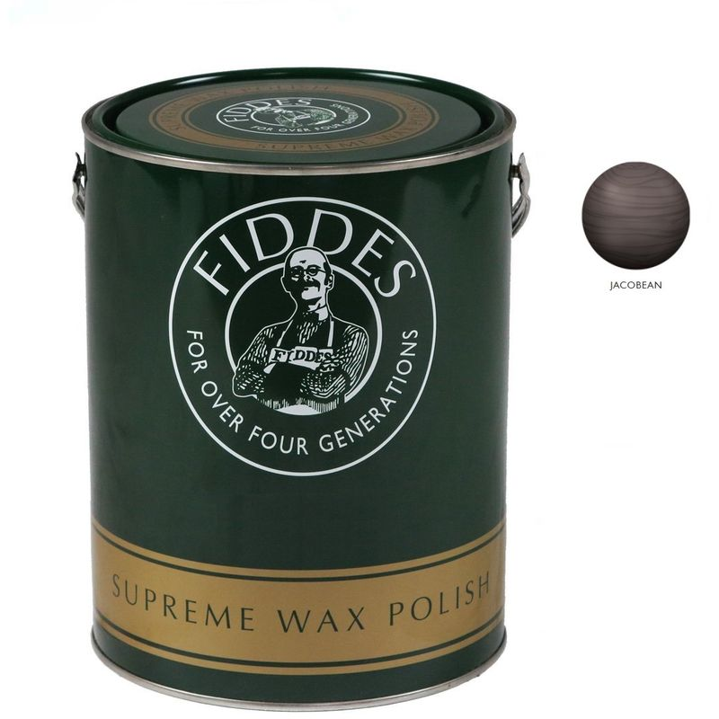 Image of Supreme Furniture and Woodwork Wax Polish - 5 Litre - Jacobean - Fiddes