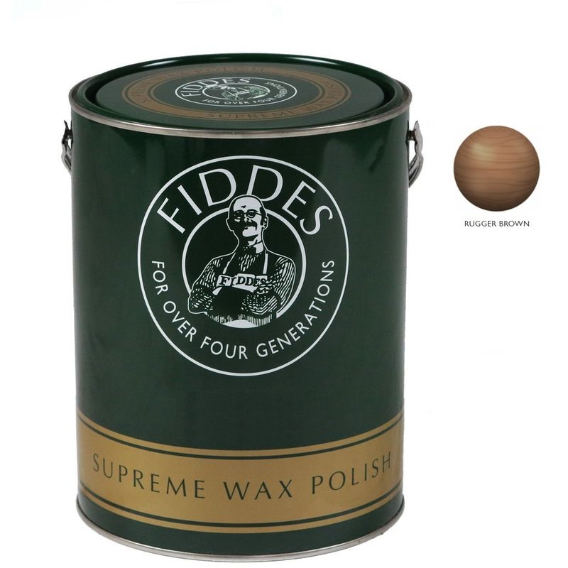 Image of Supreme Furniture and Woodwork Wax Polish - 5 Litre - Rugger Brown - Fiddes