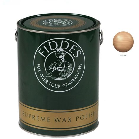 Fiddes - Supreme Furniture and Woodwork Wax Polish - 5 Litre - All Colours
