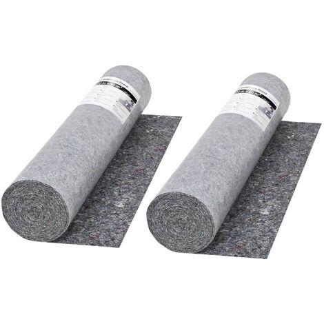 Fieltro antideslizante de pintor 50 m 280 g/m² gris 2 unidades