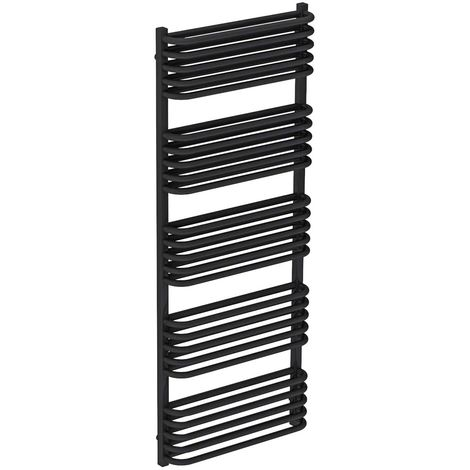 Fiennes Anthracite 1269mm x 500mm Heated Towel Rail