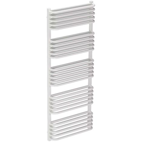 Fiennes White 1269mm x 500mm Heated Towel Rail