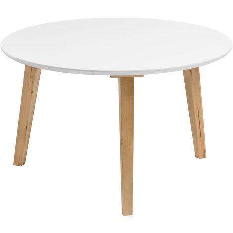 Fiesta coffee table, white / birch frame
