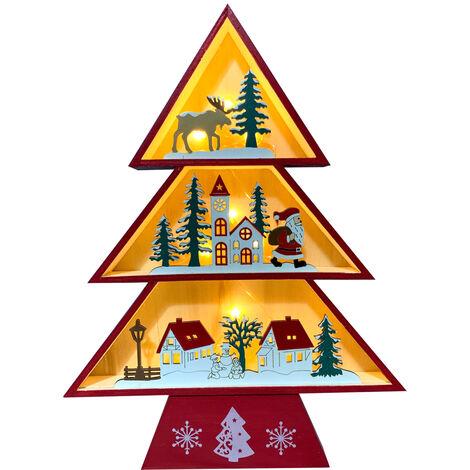 Figura arbol navidad rojo grande con luz (Electro DH 96028)