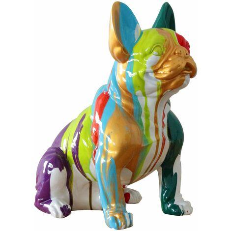Figura Boston Terrier Sentado Kuatéh Nina 40x29x 45 cm Multicolor - 50221011416585