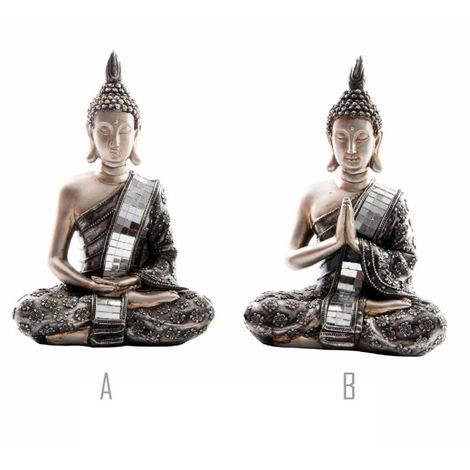Figura Buda Resina (14x9.5x20.5 cm) 2 modelos A