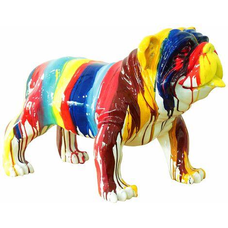 Figura Bulldog Kuatéh Gregor 61x32x38 cm Multicolor - 50221011416448