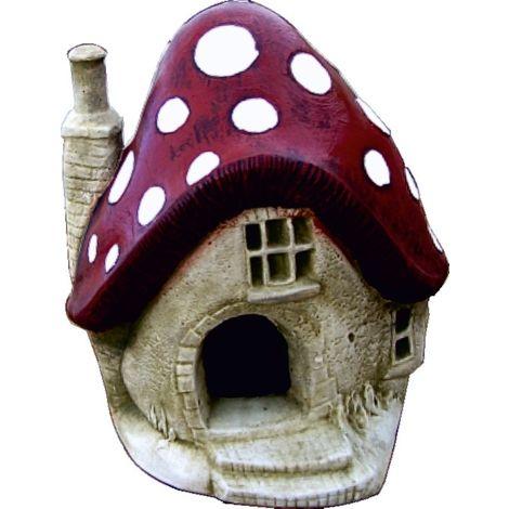 Figura Casa de Duendes de hormigón-piedra para jardín o exterior 30cm.