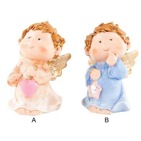 Figura de ángel de resina (6.5x6.5x12 cm) 2 modelos A