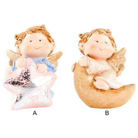Figura de ángel en resina (5x4.5x6.5 cm) 2 modelos B