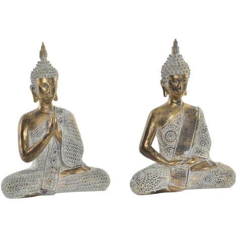 Figura de Buda dorado para decoración. Diseño Zen - Wabi Sabi- Hogar y más. A
