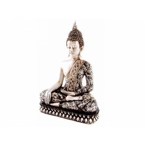 Figura de Buda Plateado