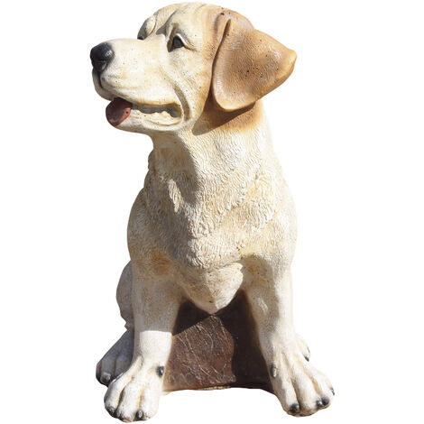 Figura de jardín Perro Bono 41cm. hormigón-piedra color