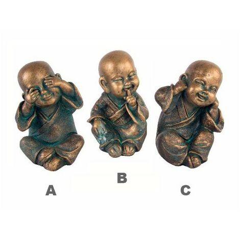 Figura de Monje Budista Bronce en Resina B