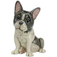 Figura de Piedra Ceramica Maciza Bull Dog Frances -