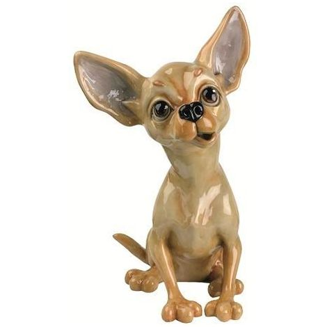 Figura de Piedra Ceramica Maciza Chihuahua -