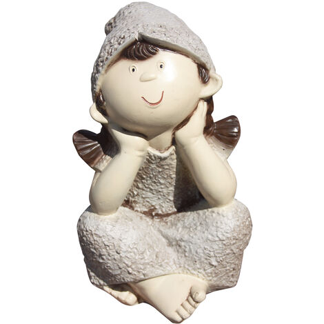 Figura decorativa de hormigón-piedra para jardín Dolly 35cm. hormigón-piedra color