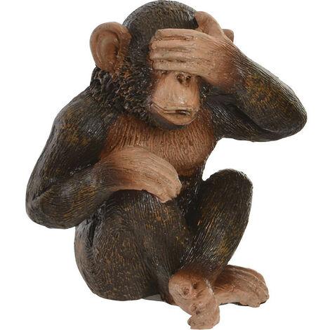 Figura decorativa de monos, ver, oír y callar de resina. Nikko. 4,50 x 6,00 cm - Hogar y más A