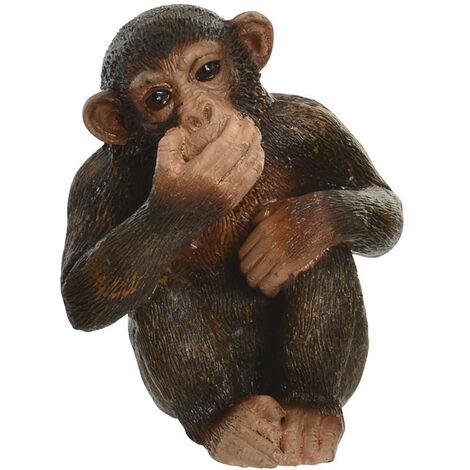 Figura decorativa de monos, ver, oír y callar de resina. Nikko. 4,50 x 6,00 cm - Hogar y más B