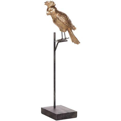 Figura decorativa dorada COCKATOO