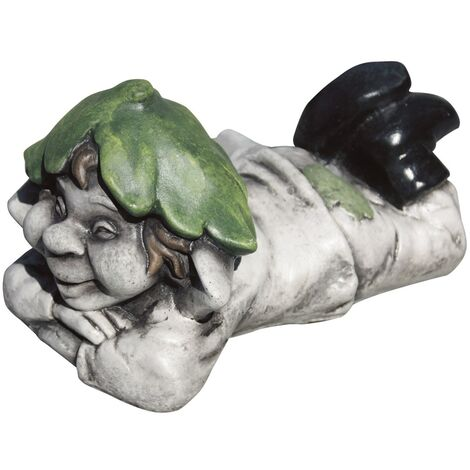Figura decorativa jardín Duende 15cm. hormigón-piedra color