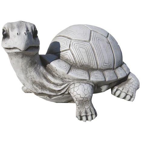 Figura decorativa jardín Tortuga 15cm. hormigón-piedra Natural musgo