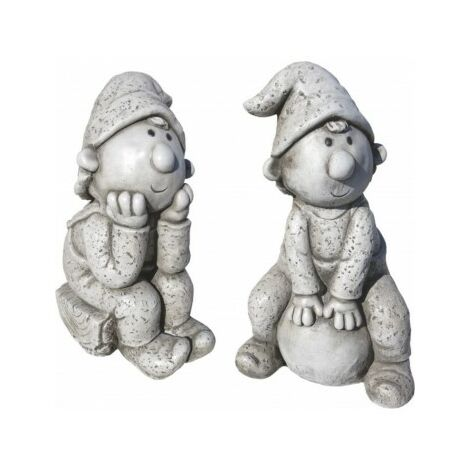 Figura decorativa Jardins Peter y Walter 43cm. hormigón-piedra