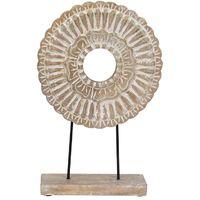 Figura Decorativa May con Base de Madera 23 x 46 cm