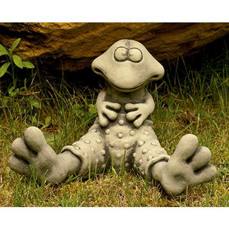 Figura decorativa Rana en hormigón-piedra para el jardín exterior 32x22cm.