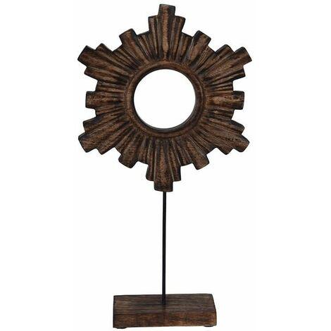 Figura Decorativa Tixua con Base de Madera 23 x 46 cm