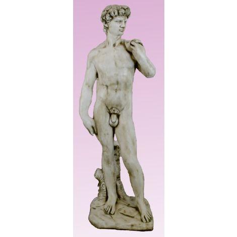 Figura estatua hormigón-piedra David decorativa para jardín o exterior 117cm.