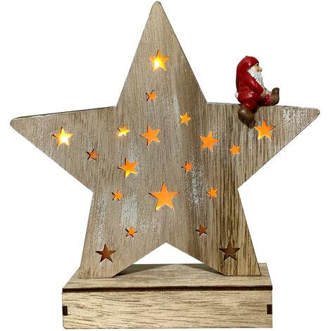 Figura estrella navidad con luz (Electro DH 96004)
