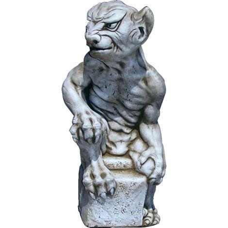 Figura Gargola de hormigón-piedra para jardín o exterior 52cm. I