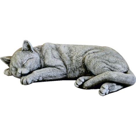 Figura Gato de hormigón-piedra para jardín o exterior 40cm.