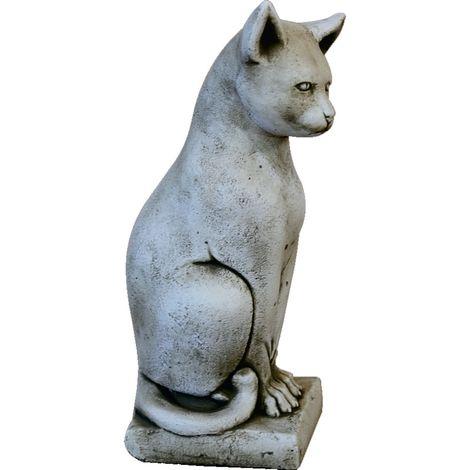 Figura Gato de hormigón-piedra para jardín o exterior 47cm.
