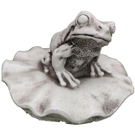 Figura jardín Surtidor Fuente estanque en hormigón-piedra Modelo Giano 22x56cm.