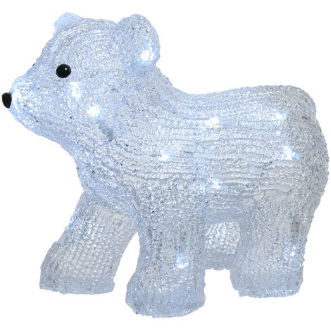 Figura oso polar led 29x14,5x24-20l