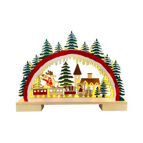 Figura paisaje navideño con luz (Electro DH 96038)