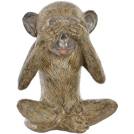 Figura Resina, Mono Envejecido, Decoración Moderna - Hogar y Más A