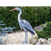 Figurine de bassin en plastique Heron cendré I