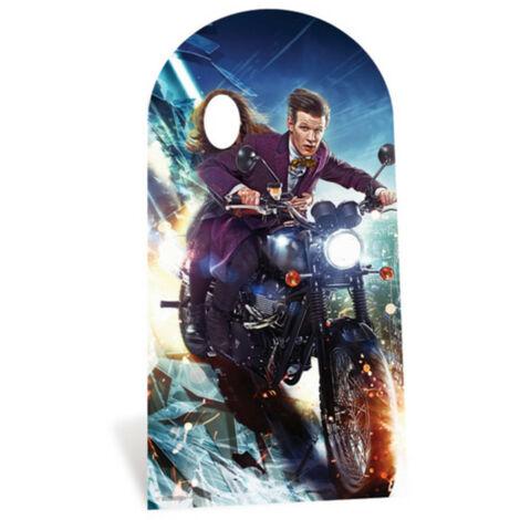 Figurine en carton DOCTOR WHO passe tête Le stand docteur et Clara à moto 185 cm