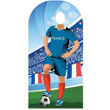 Figurine en carton passe tête France (Coupe du monde de football 190 cm