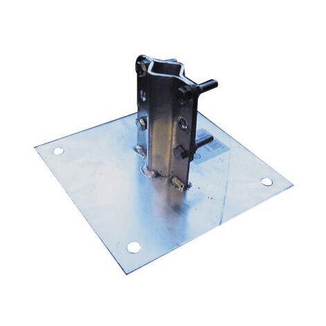 Fijación base para mástil, diámetros: de 25 a 50mm