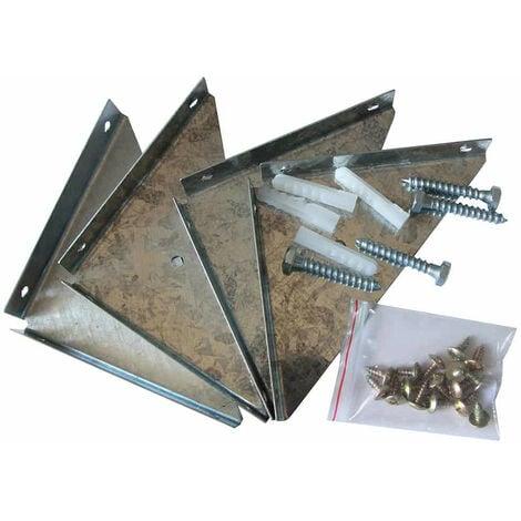 Fijación Suelo para Casetas Gardiun 12x12x3 cm - KIS14004