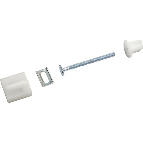 fijaciones tapa WC tornillos 6x75 mm - cabeza ovalada con conjunto de corredera x2