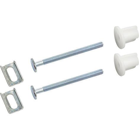 fijaciones tapa WC tornillos 6x75 mm - cabeza ovalada con corredera x2